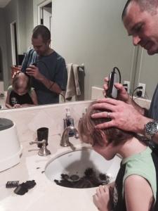 dad shaving ethan