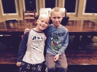 ethan and max, shaved heads