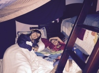 kelly sleepover, fort, 010115