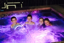 hot tub with cousins, feb21 2015