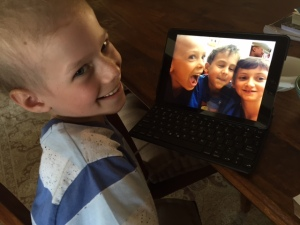 facetime with some of his best class buds, may2015 2