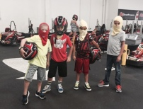 go carts with buddies, summer 2015 c