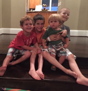 with cousins harrison and nathan, summer2015
