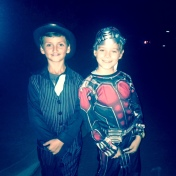 ethan and quinn, halloween night